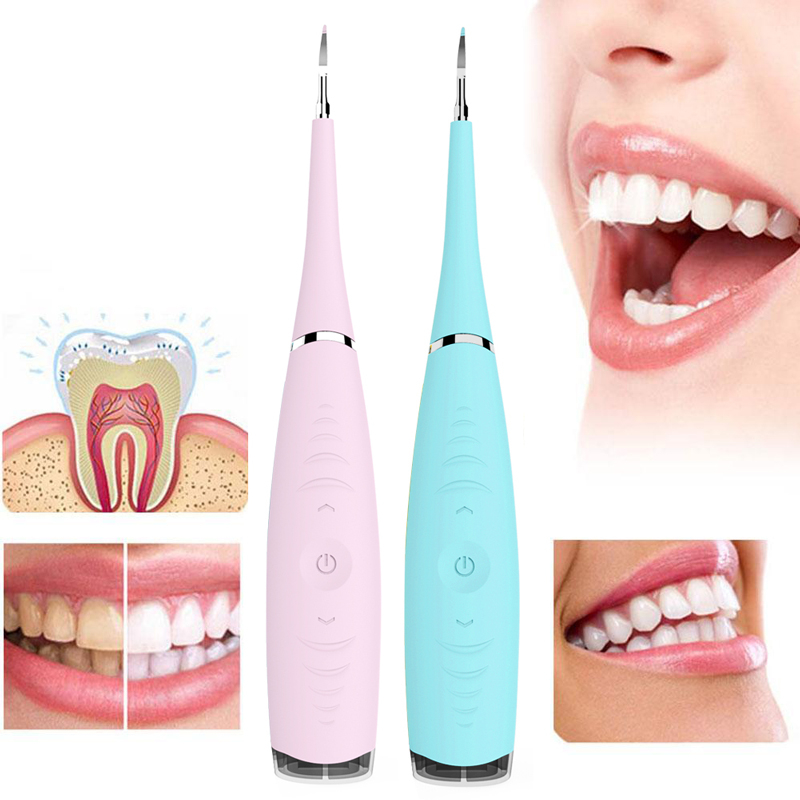Usb Recharge Vibrition Sonic Dental Scaler Tooth Calculus Remover Tooth Stains Tartar Cleaner Tool Whiten Teeth Dropshipping(China)