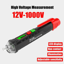 AC/DC Voltage Test Pencil 12V/48V-1000V Sensitivity Tool For testing AC voltimetro amperimetro digital I88 #1