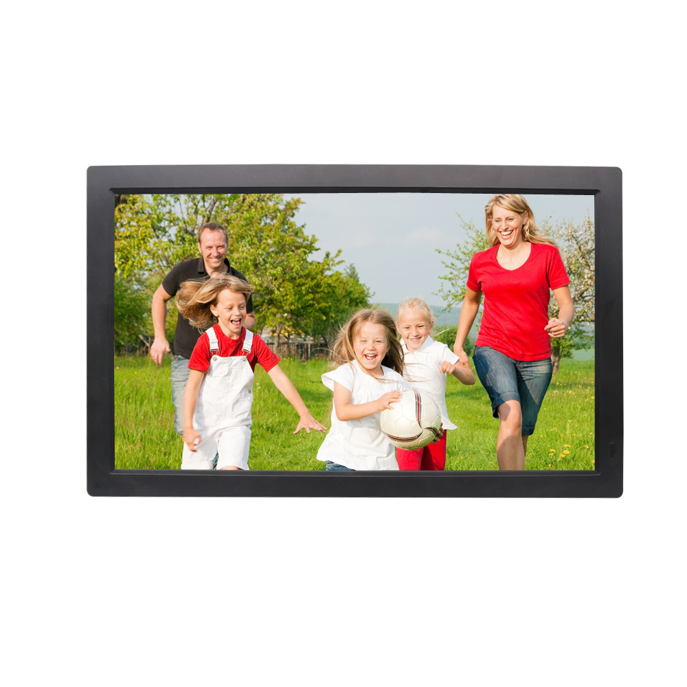21 inch Screen LED Backlight HD 1920*1080 Digital Photo Frame Electronic Album Picture Music Movie Full Function Good Gift image