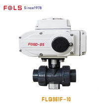 Computerized control electric upvc ball valve with modbus rs485
