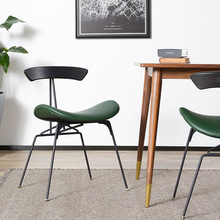Nordic INS Industrial Wind iron restaurant applicable to dining chair office meeting retro leisure home study bedroom