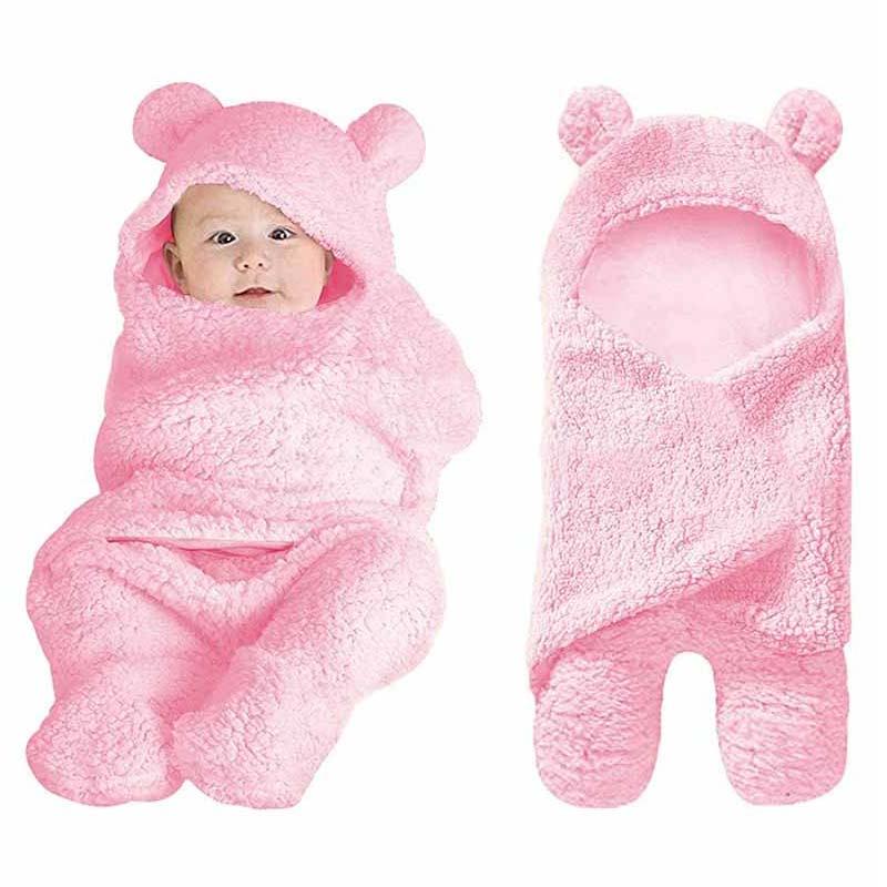 Baby Sleeping Bag Newborn Boy Girl Blanket Plush Blanket Baby Receiving Blanket Infant Boys Girls Clothes Nursery Wrap Swaddle