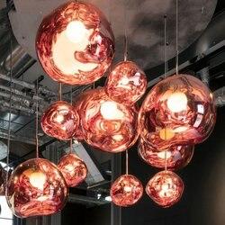 Nowoczesne Lustre żyrandol światła szkła lawa nieregularne oprawy wiszące lampy salon w stylu art Deco oświetlenie oprawa lampy przemysłowe