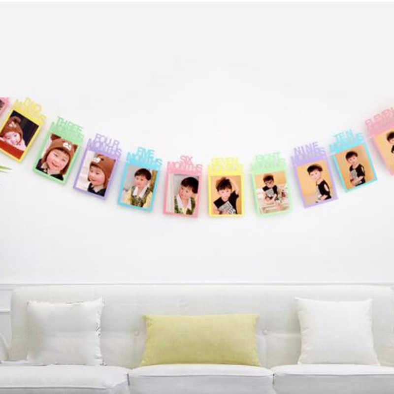 תינוק יום הולדת תמונה מסגרת דקור באנר מסיבת תמונה באנטינג גרלנד ילדים יום הולדת ילדי מסיבת אספקת קישוט 2020 חדש