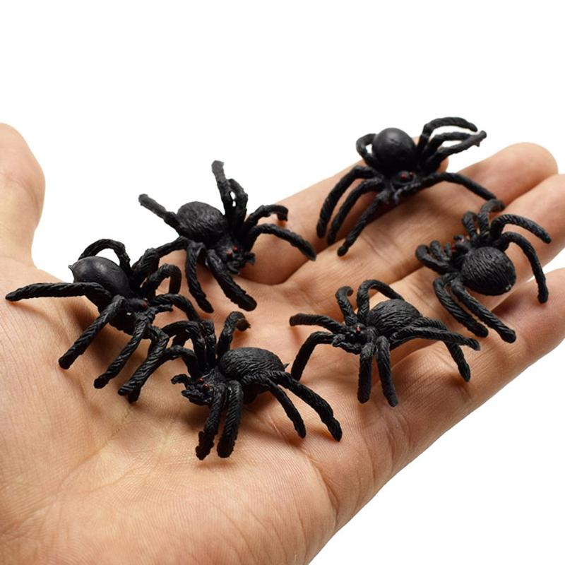 Halloween Kids Toys Simulation Spider Jokes Toys PVC Artificial Insect Animal Model Trick Toys
