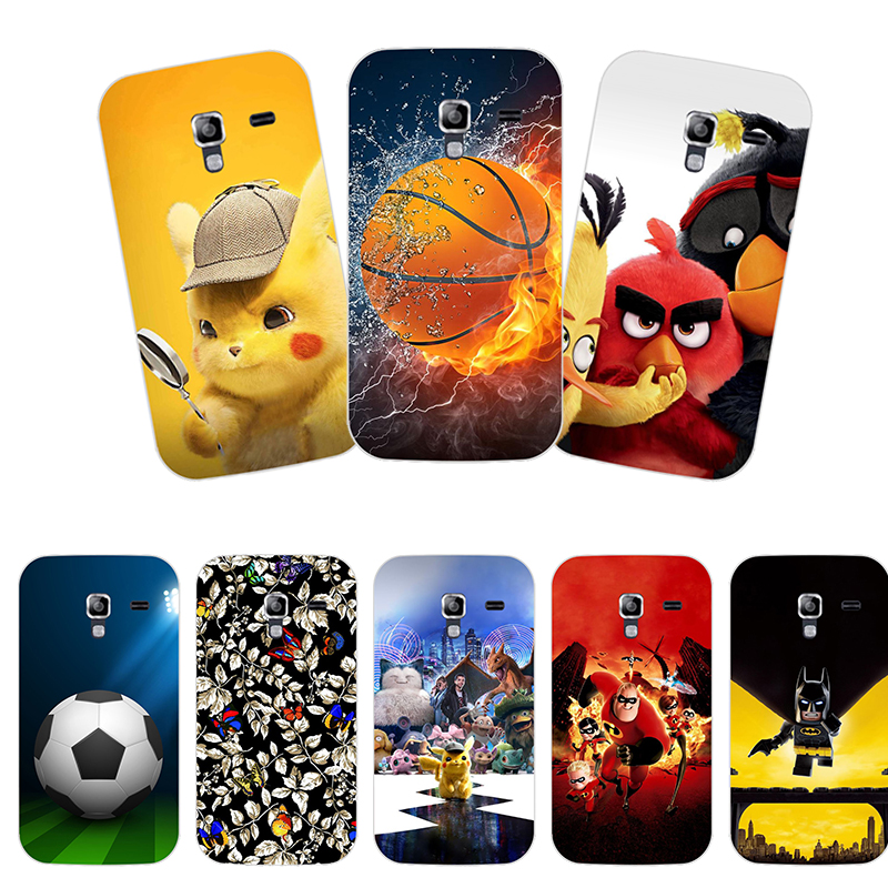 Case for Samsung Galaxy Ace 2 II GT-i8160 Back Cover Flower Plants Original Hard Plastic Printed Cute Animal Phone Case image