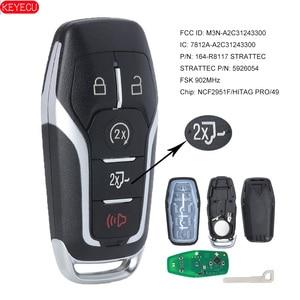 Image 1 - KEYECU Smart Remote Key FSK 902MHz HITAG PRO 49 Chip for Ford SUV F150 F250 2015 2016 2017 FCCID: M3N A2C31243300 P/N: 16 R8117