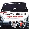 Солнцезащитный чехол для приборной панели автомобиля TAIJS для Toyota wish 2003-2009 правый руль авто приборная панель коврик для Toyota wish 03-09