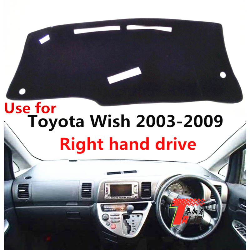 TAIJS car dashboard Sun Protective cover for Toyota wish 2003 2009 right hand drive Auto dashboard mat pad for Toyota wish 03 09|Anti-Slip Mat| |  - title=