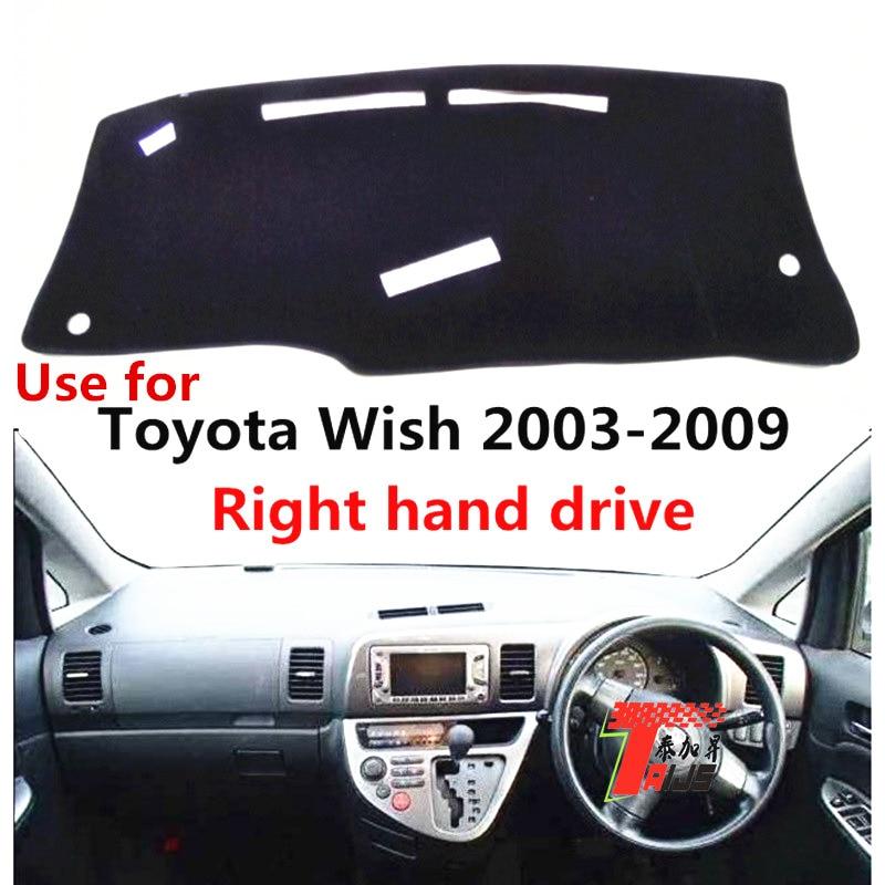 TAIJS Car Dashboard Sun Protective Cover For Toyota Wish 2003-2009 Right Hand Drive Auto Dashboard Mat Pad For Toyota Wish 03-09