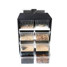 Изоляционная коробка для рептилий, маленький ползающий домашний питомец, ПВХ рогатая лягушка, черепаха, Скорпион, паук, охранник, дворец, шк...