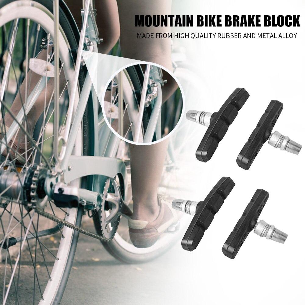 4pcs MTB Mountain Bike Brake Block Durable Rubber Bicycle V-brake Shoes Pad //ND