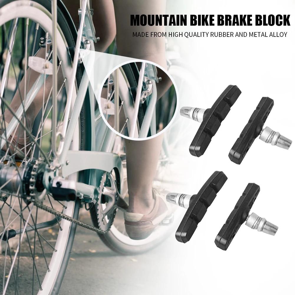 1 Pair Cycle Bike Bicycle MTB V Brake Blocks Pads Shoes Repair Accessories