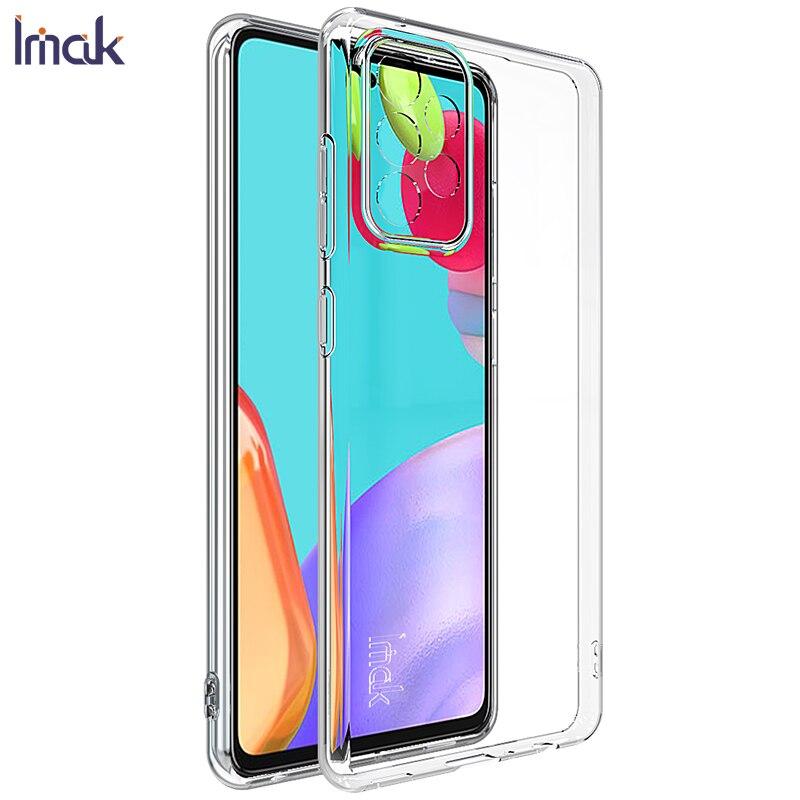 Для Samsung Galaxy A52 4G чехол IMAK Прозрачный Ультратонкий Мягкий чехол из ТПУ на заднюю панель для телефона Чехлы для Samsung A52 A72 4G 5G