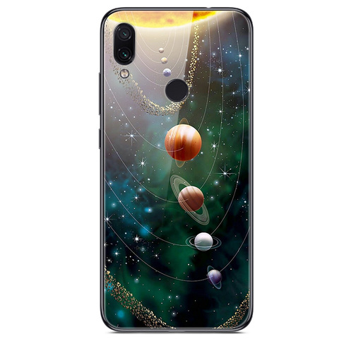 For Xiaomi Redmi Note 7 Case Tempered Glass Hard Back Cover For Xiomi Redmi Note7 Phone Cases Soft Bumper On Redmi Note 7 7Pro Islamabad