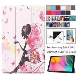 Ультра тонкий 3-складной Умный Магнитный чехол для Samsung Galaxy Tab A 10,1 2019 T510 SM-T510 SM-T515 10,1 дюймов силиконовые футляры для планшетных телефонов