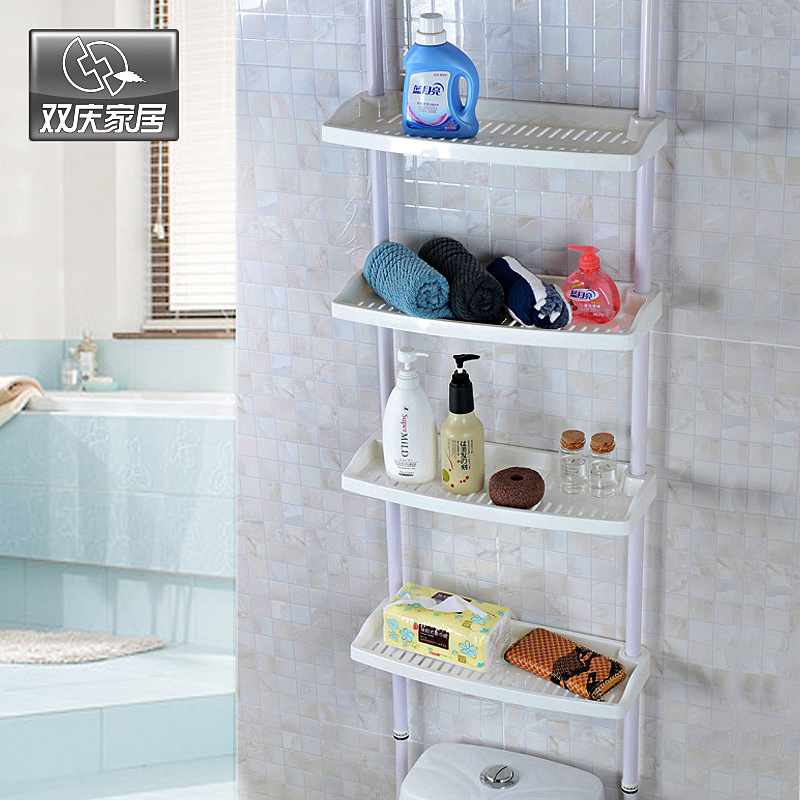 Shuang Qing Home Reside Storage Rack Of Toilet Bathroom Multilayer Storage Organizing Rack Toilet Indomitable Spirit Storage She