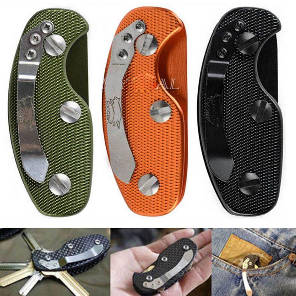 Hot Aluminium Smart Key Holder Clip Keys Folder Keyring Housing EDC Pocket Tools Alloy Keys Organizer