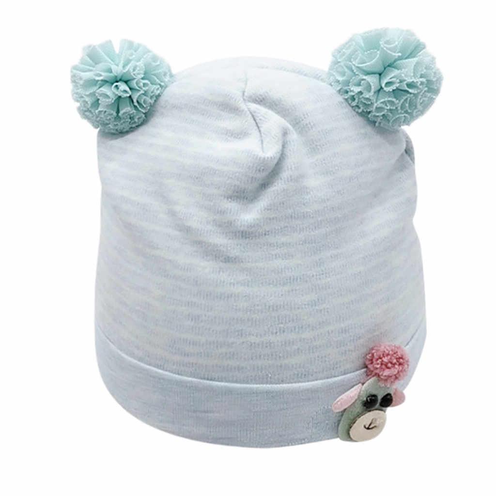 新秋冬編みニット帽子子供ぬいぐるみビーニーキャップ幼児の子供の漫画帽子ガールズボーイズ綿イヤーフラップキャップ