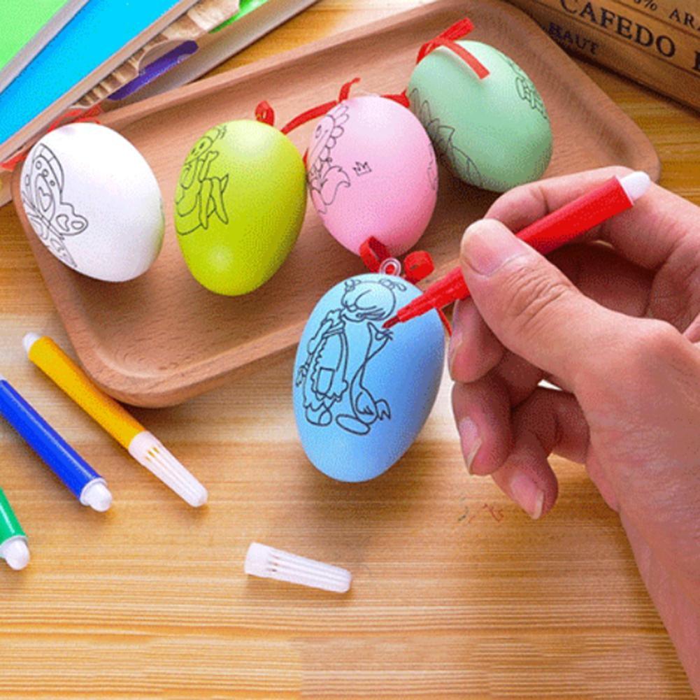 Easter Egg Water Color Pens Kids DIY Painting Educational Toys Festival Decor New