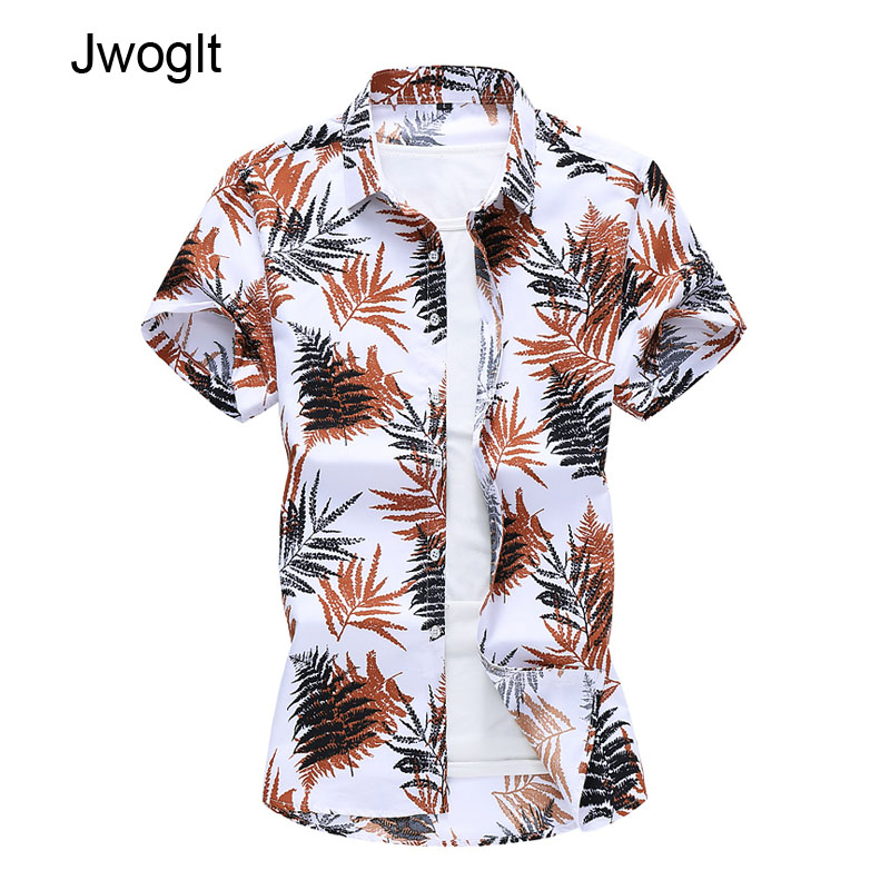 45KG-120KG 2020 New Fashion Men's Short Sleeve Casual Shirts Regular Fit Beach Camisa Hawaiana <font><b>Hombre</b></font> 5XL <font><b>6XL</b></font> 7XL image