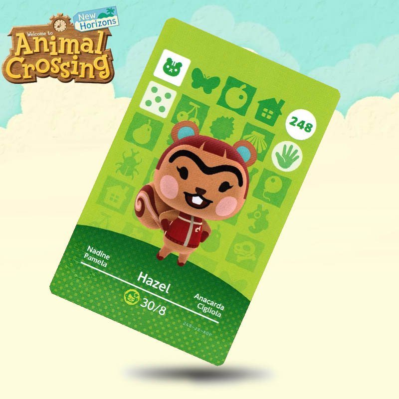 248 Hazel Animal Crossing Card Amiibo Cards Work For Switch NS 3DS Games