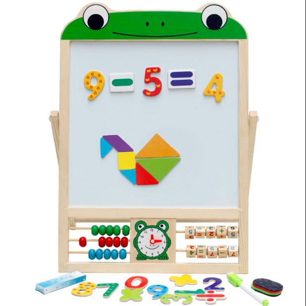 Young Wooden Multi-functional Xue Xi Jia Drawing Board Pinyin With Numbers Fan Ban Jia Calculation Frame Zhu Suan Jia CHILDREN'S