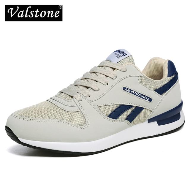 Valstone Ademende Mannen Lente Zomer Sneakers Mesh Air Trainers Vrouwen Antislip Outdoor Wandelschoenen Licht Gewicht Wit Zwart