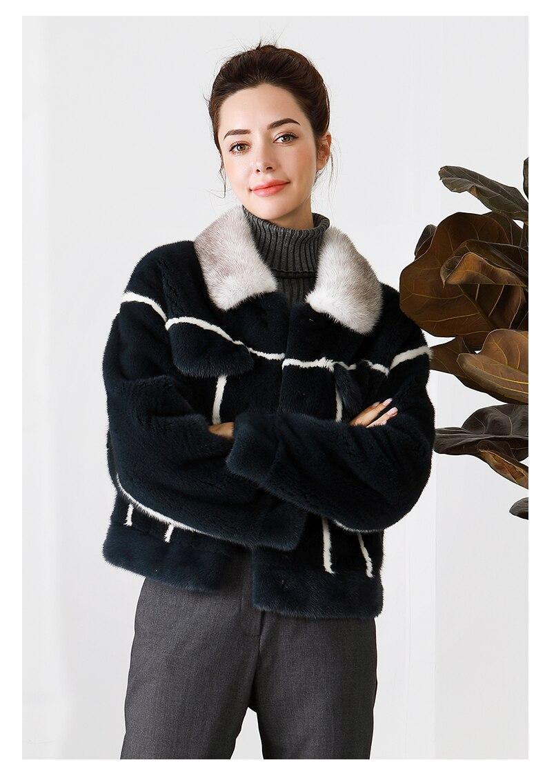 Imported Crown Velvet Mink Fur Coat Female Whole Mink Short Mink Fur Colour Colouring Locomotive Coat New Type 2019