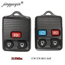 Jingyuqin 50 sztuk 3/4 przyciski Car Key Transit pilot z dostępem bezkluczykowym 315MHz dla Ford focus kompletny Escape pilot Circuid Board