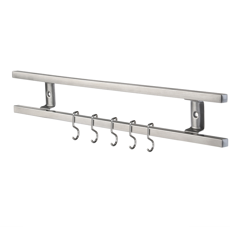 Wall Mounted 304 Stainless Steel Magnetic Knife Holder Double Bar Easy Storage Knife Rack Strip For Kitchen Utensil Tool Hook