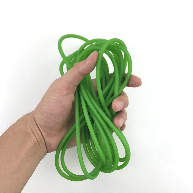 Green Natural Latex Slingshots Yoga Rubber Tube 0.5-5M For Hunting Shooting High Elastic Tubing Band Accessories 2X5mm Diameter 1
