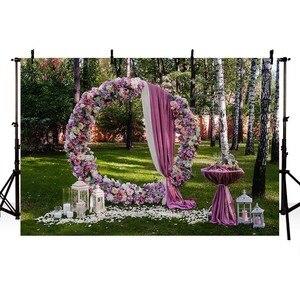 Image 4 - Avezano Photography Background Wedding Engagement Flower Curtain Location Backdrop Photocall Photo Studio Photozone Decor Props