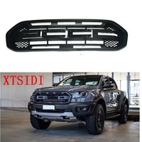 MATTE BLACK MODIFIED GRILLE GRILLS FRONT BUMPER MESH GRILL TRIMS COVER MASK FIT FOR RANGER T8 XTL 2018+ PICKUP MODIFIED GRILL