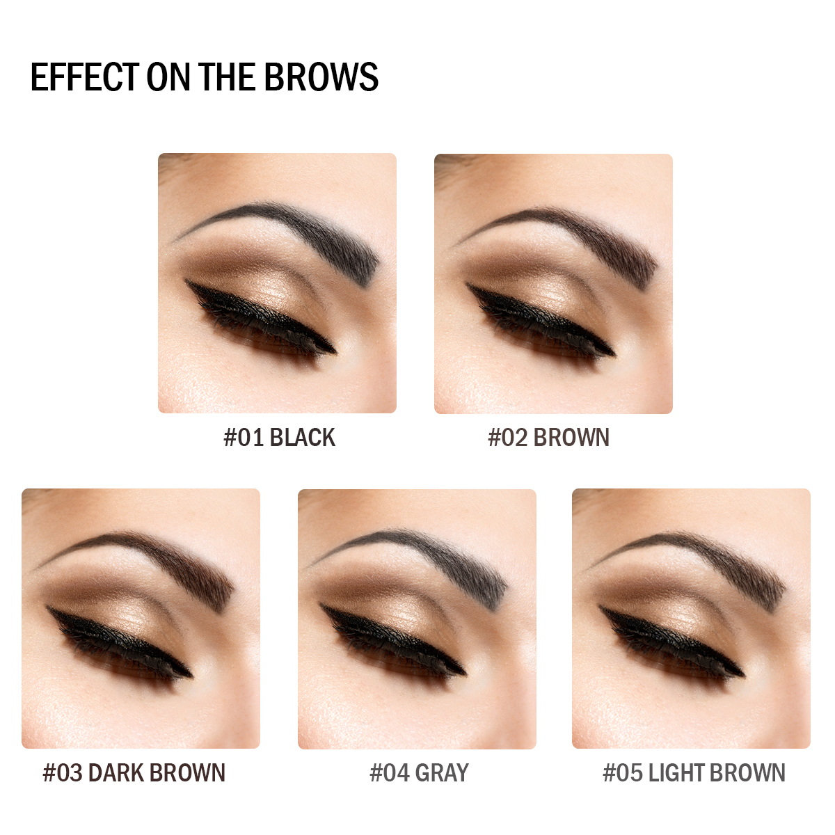BEAUTYBIGBANG Long Lasting Waterproof Eye Brow Tint Super Slim Sombrancelha Dual Ended Eyebrow Pencil Makeup Cejas Maquillaje