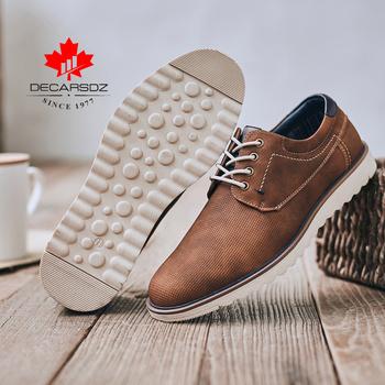 Męskie buty 2020 wiosna moda wysokiej jakości buty do chodzenia na co dzień mężczyźni nowe rekreacyjne obuwie męskie marki skórzane męskie buty na co dzień tanie i dobre opinie DECARSDZ Syntetyczny Przypadkowi buty Lace-up Pasuje większy niż zwykle proszę sprawdzić ten sklep jest dobór informacji
