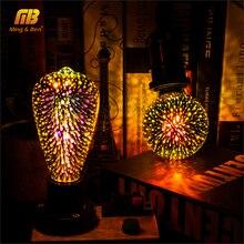 Led 電球 3D 装飾電球花火 110 220 v ST64 G95 G80 G125 A60 ボトルハート E27 休日ライトノベルティクリスマスランプ
