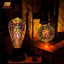 Led ampul 3D dekorasyon ampul havai fişek 110 220V ST64 G95 G80 G125 A60 şişe kalp E27 tatil ışıkları yenilik noel lambası