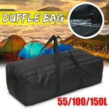 Bolsa de gimnasio negra de gran capacidad para hombre de 150L 100L 55L, bolsa de viaje para gimnasio, fin de semana, bolsa impermeable para deportes
