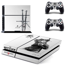 The Witcher 3: Wild Hunt Play station 4 Stickers,PS 4 Sticker PS4 Skin Pegatinas For PlayStation 4 console and 2 controller