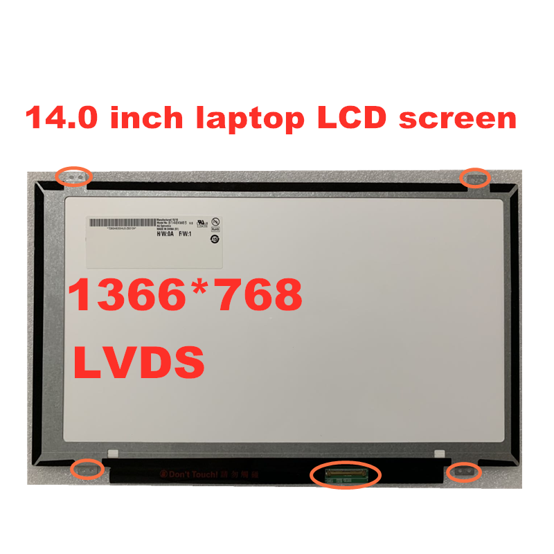Free Shipping 14-inch Laptop LCD Screen Universal For B140XW03 V.0  LP140WH2 HB140WX1-300  N140BGE-L32 BT140WG03  LTN140AT20