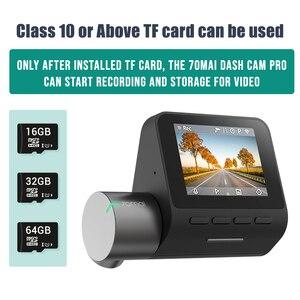 Image 5 - 70mai Smart Dash Cam Pro anglais commande vocale 1944P 70MAI voiture DVR caméra GPS ADAS 140FOV Auto Vision nocturne 24H moniteur de stationnement