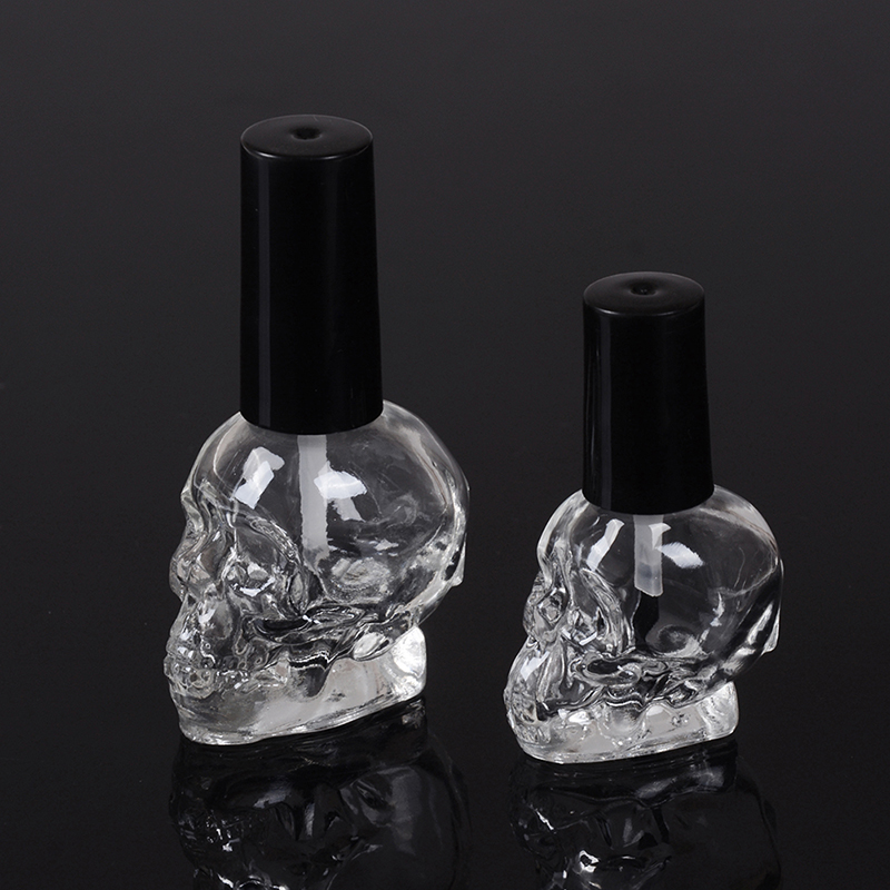 10ML/3ML/2ML Steamed Head Empty Cosmetic Container Glass Bottles Refillable With Brush Nail Polish Bottle Transparent