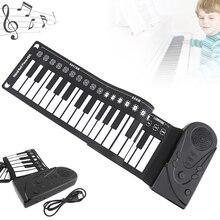 49 клавиш электронная портативная силиконовая рулонная пианино Гибкая рука электронная клавиатура Встроенный динамик детские игрушки орган