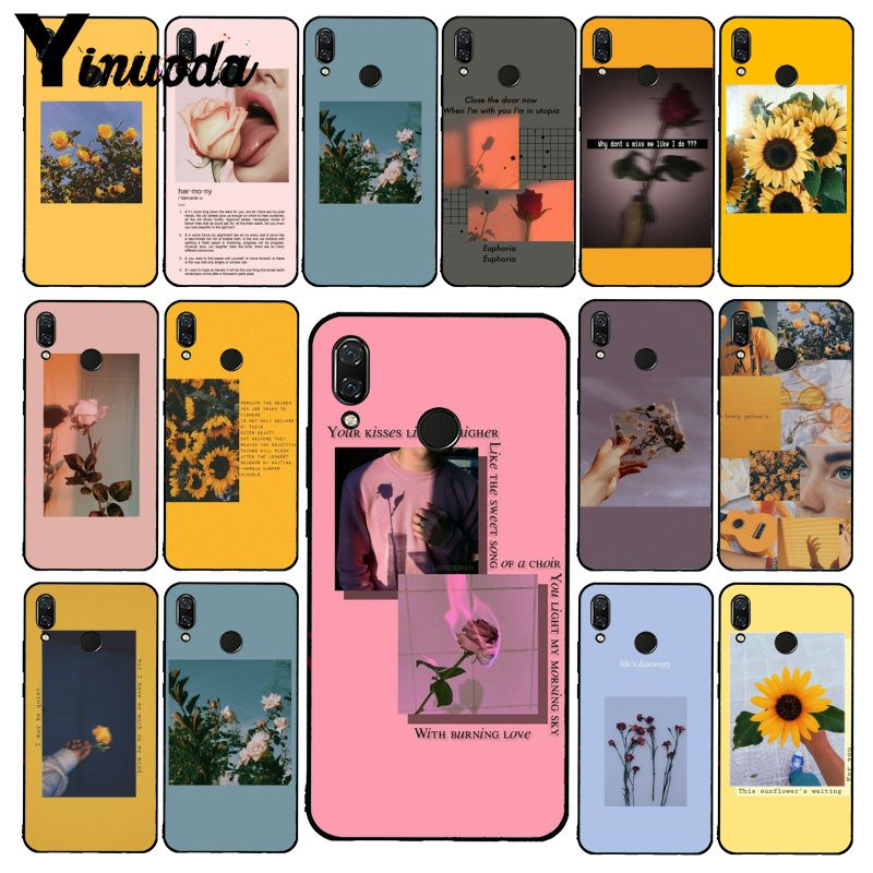 Yinuoda Great Aesthetic Art Pink Yellow Sunflower Rose Phone Case For Xiaomi Redmi Note 7 5 4 Redmi 5plus 6A Note8 4X Note8Pro