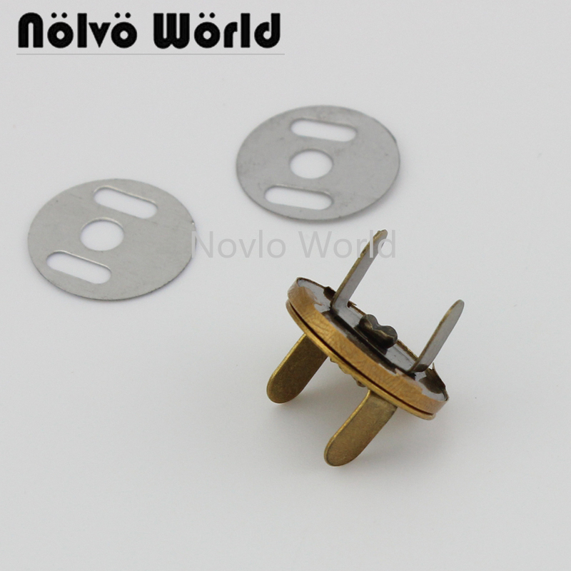 8 Piece Test, 18.3mm, Old Gold Metal  Magnetic Buckle Fasteners Clasps Strong Magnetic Button For Lady Bags Purse Accessories
