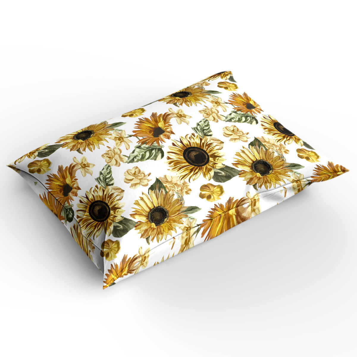 Mother'S Day Theme Watercolor Sunflowers Floral Design 4 Pcs Comforter Cover Set Quilt Bedding Set California King Living Room