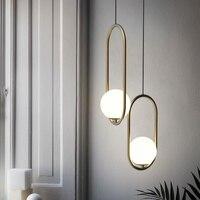 Nordic Pendant Lights Living Room Loft Decor Industriel Hanging Lamp Kitchen Fixtures Lustre Suspension Ball Glass LED Bulbs E27