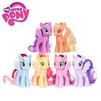 Pacote de 6 meu pequeno pônei brinquedos conjunto amizade é arco-íris mágico traço crepúsculo faísca pinkie torta raridade figuras de ação pvc bonecas