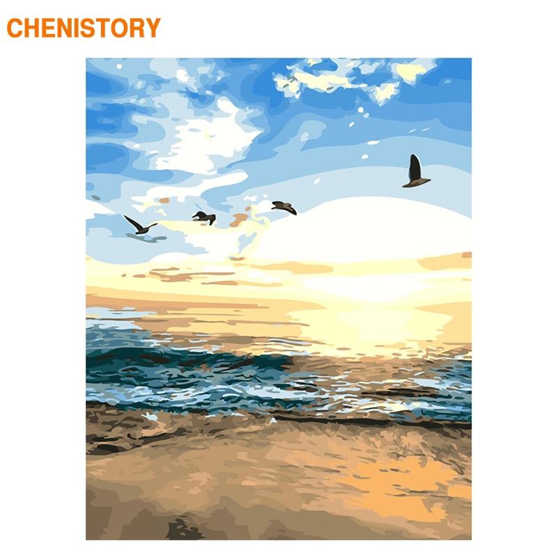 Купить chenistory раскрашивание по номерам современный пейзаж настенное